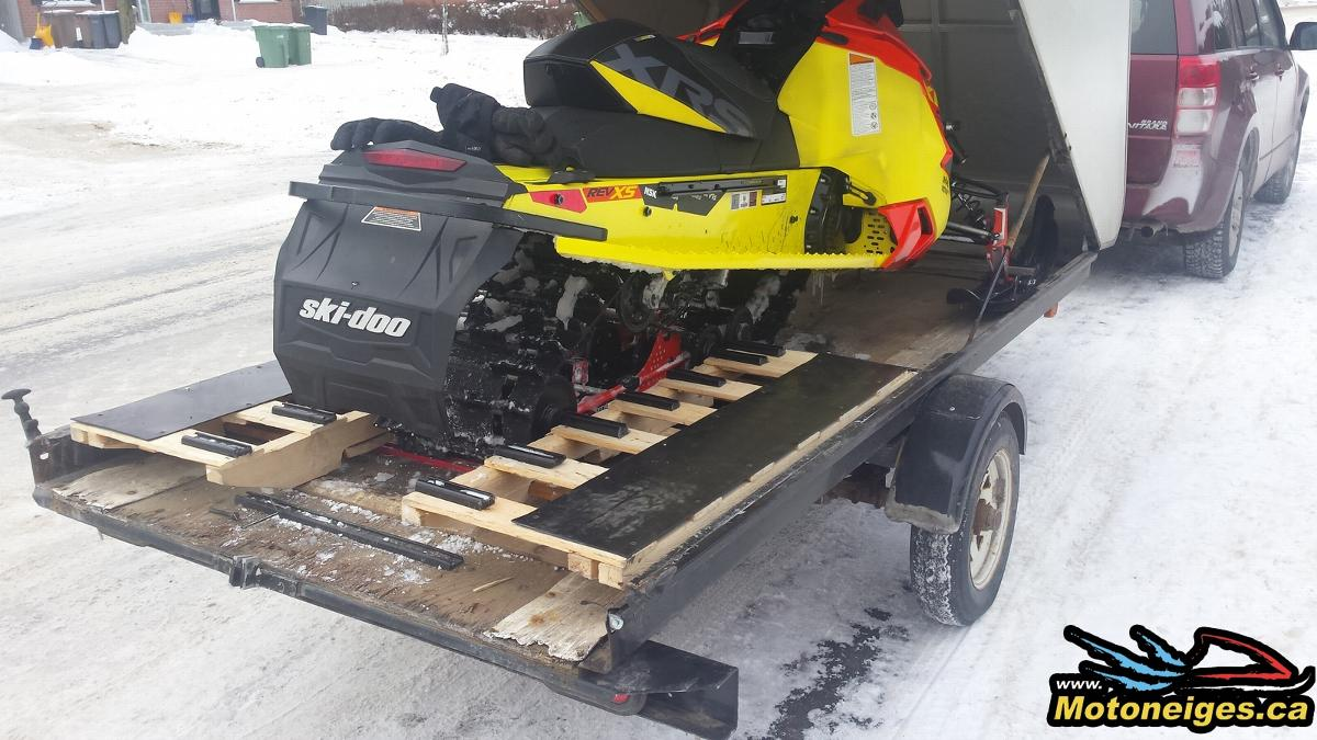 How to make a snowmobile ramp